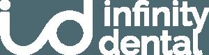 Logo infinity dental Blanco